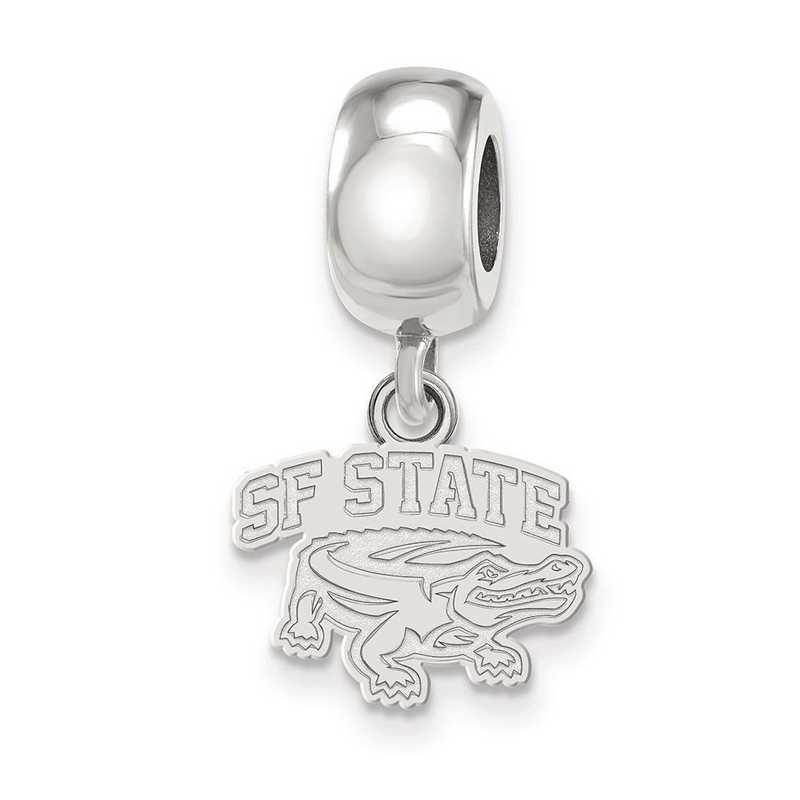 SS009SFU: SS Rh-P Logoart San Francisco State U Charm Reflection Beads