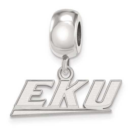 SS011EKU: SS Logoart Eastern Kentucky Univ Dngl Reflection Beads Charm
