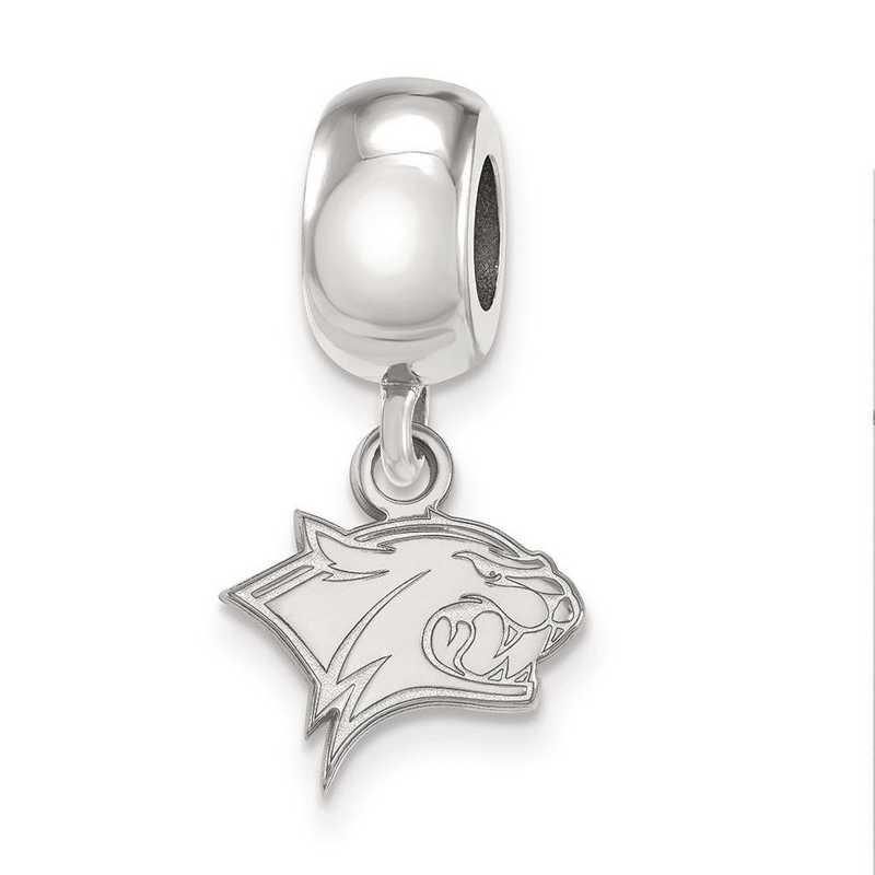 SS012UNH: SS Rh-P Logoart Univ Of New Hampshire Charm Reflection Beads