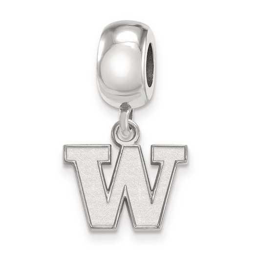 SS012UWA: SS Rh-P Logoart Univ Of Washington Xs Reflection Beads Charm