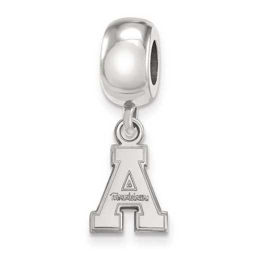 SS013APS: SS Logoart Appalachian State U Xs Reflection Beads Charm