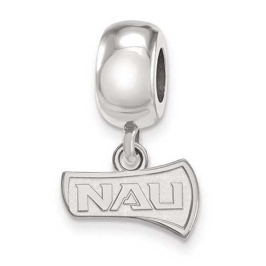 SS013NAU: SS Rh-P Logoart Northern Arizona Univ Charm Reflection Beads