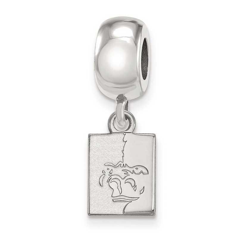 SS013PSK: SS Rh-P Logoart Pittsburgh State U Xs Reflection Beads Charm