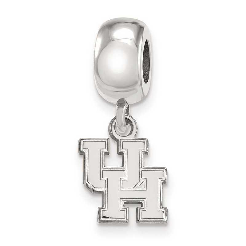 SS013UHO: SS Rh-P Logoart Univ Of Houston Xs Reflection Beads Charm
