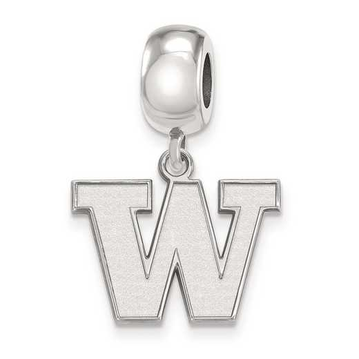 SS013UWA: SS Rh-P Logoart Univ Of Washington Small Reflection Beads