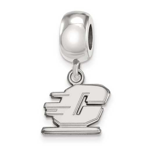 SS014CMU: SS Logoart Cntrl Michigan Univ Dngle Reflection Beads Charm