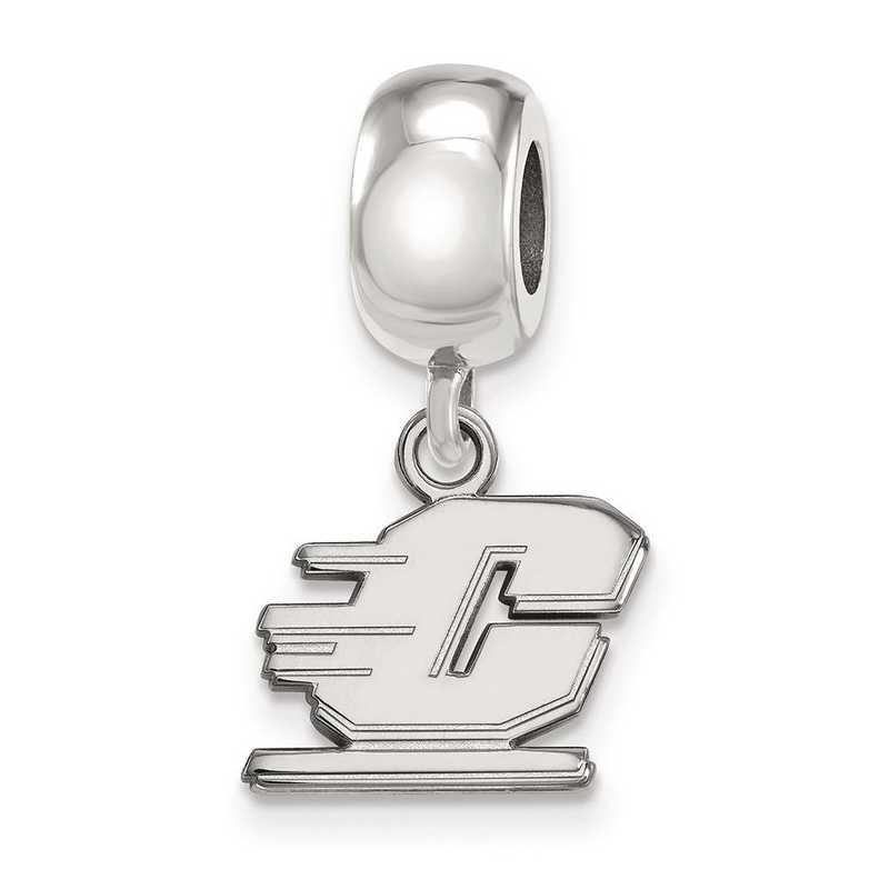 SS014CMU: SS Logoart Cntrl Michigan Univ Dngle Reflection Beads Charm