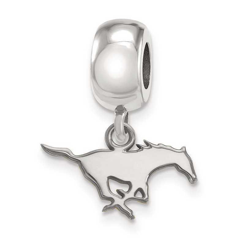 SS014SMU: SS Logoart Southern Methodist U Xs Reflection Beads Charm