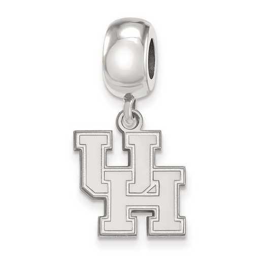 SS014UHO: SS Rh-P Logoart Univ Of Houston Small Reflection Beads
