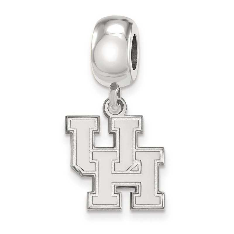 SS014UHO: SS Rh-P Logoart Univ Of Houston Small Reflection Beads