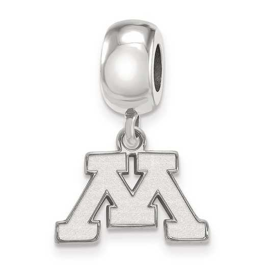 SS014UMN: SS Rh-P Logoart Univ Of Minnesota Xs Reflection Beads Charm