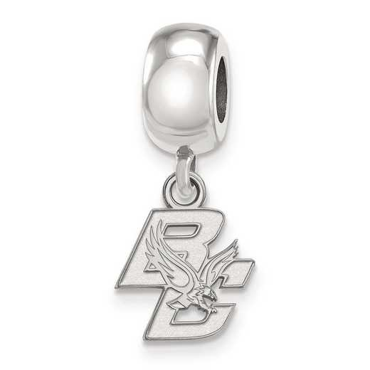 SS015BOC: SS Rh-P Logoart Boston College Reflection Beads Charm Xs