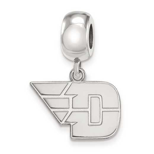 SS016UD: SS Rh-P Logoart Univ Of Dayton Small Dangle Reflection Beads