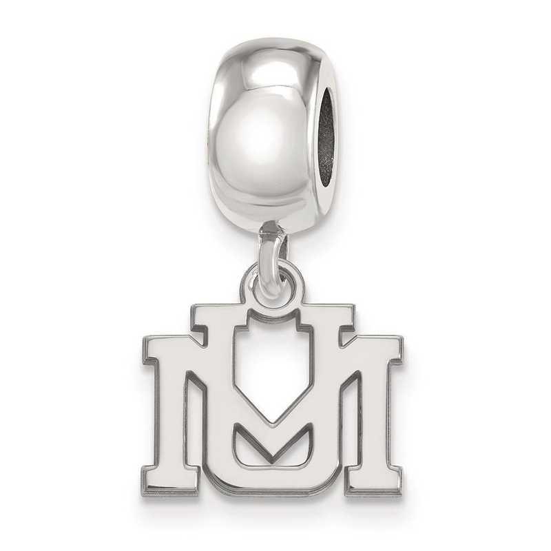 SS016UMT: SS Rh-P Logoart Univ Of Montana Xs Reflection Beads Charm