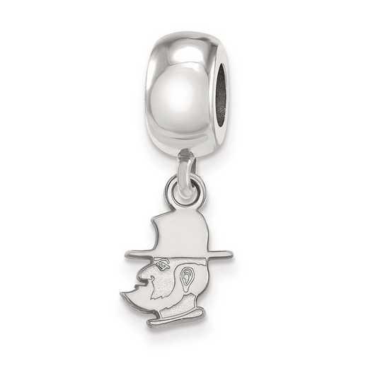 SS018APS: SS Logoart Appalachian State U Xs Reflection Beads Charm