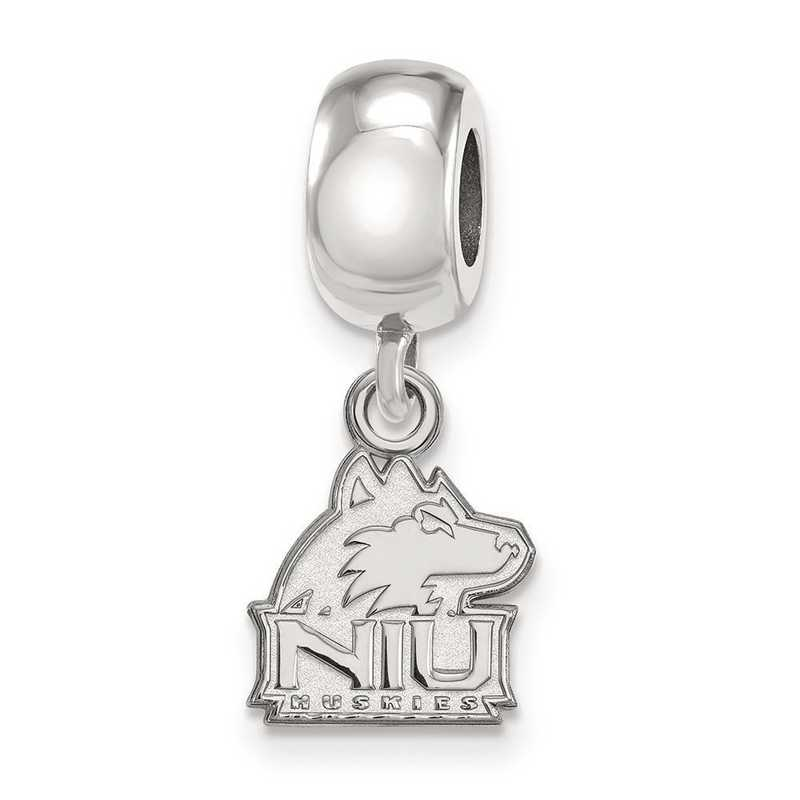 SS018NIU: SS Logoart Northern Illinois U Xs Reflection Beads Charm