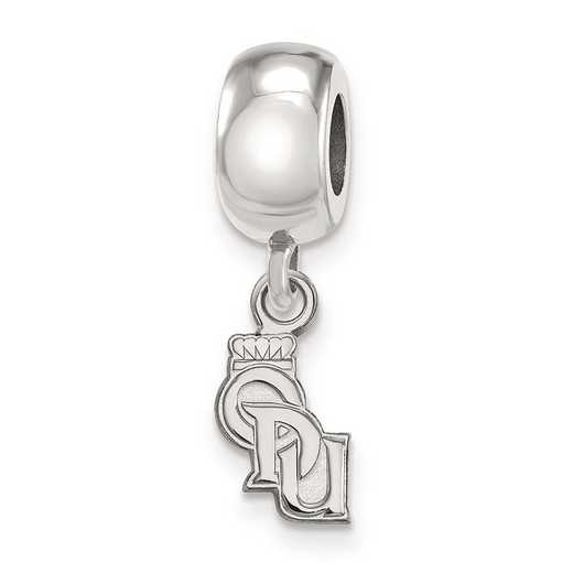 SS018ODU: SS Rh-P Logoart Old Dominion Univ Xs Reflection Beads Charm