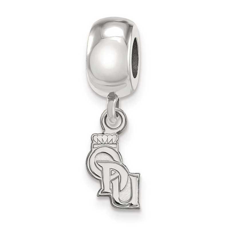 SS018ODU: SS Rh-P Logoart Old Dominion Univ Xs Reflection Beads Charm