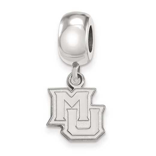 SS019MAR: SS Rh-P Logoart Marquette Univ Xs Reflection Beads Charm