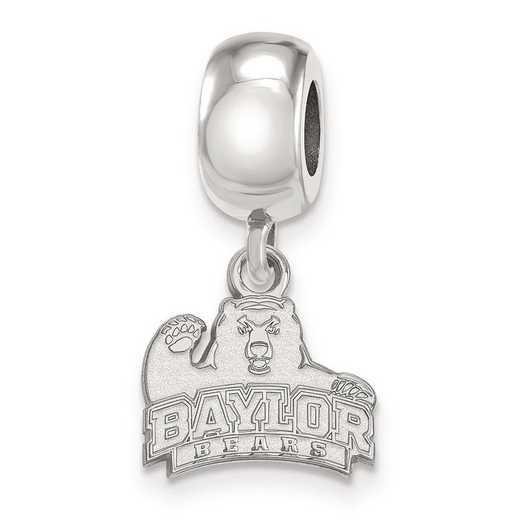 SS020BU: SS Rh-P Logoart Baylor Univ Xs Dangle Reflection Beads Charm