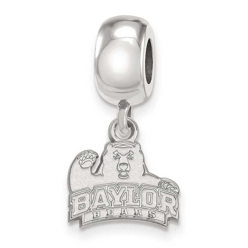 SS020BU: SS Rh-P Logoart Baylor Univ Xs Dangle Reflection Beads Charm