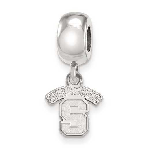 SS020SYU: SS Rh-P Logoart Syracuse Univ Xs Reflection Beads Charm