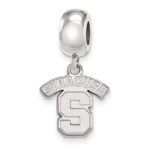 SS021SYU: SS Rh-P Logoart Syracuse Univ Small Dangle Reflection Beads