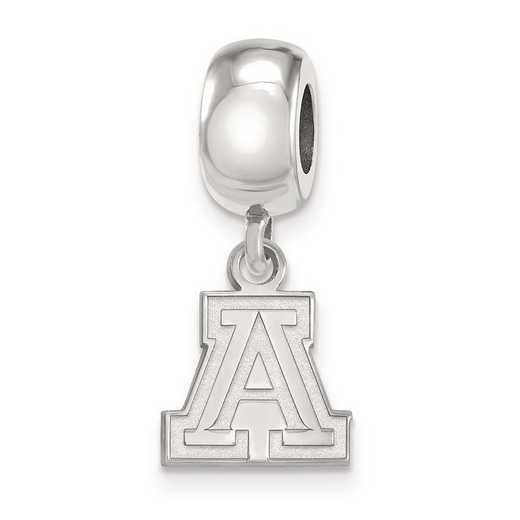 SS022UAZ: SS Rh-P Logoart Univ Of Arizona Xs Reflection Beads Charm