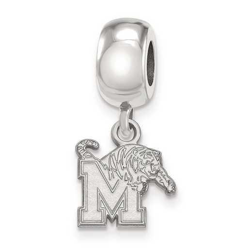 SS022UMP: SS Rh-P Logoart Univ Of Memphis Xs Reflection Beads Charm