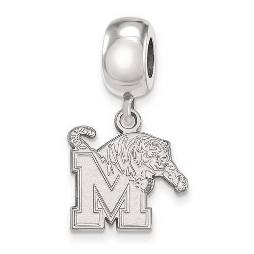 SS023UMP: SS Rh-P Logoart Univ Of Memphis Small Reflection Beads