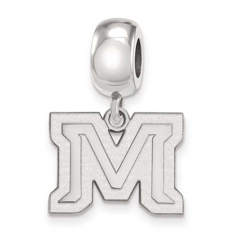 SS024MTU: SS Rh-P Logoart Montana State Univ Small Reflection Beads