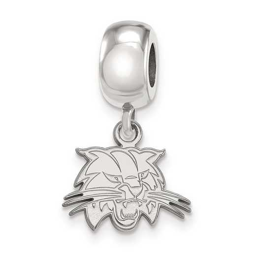 SS024OU: SS Rh-P Logoart Ohio Univ Xs Dangle Reflection Beads Charm