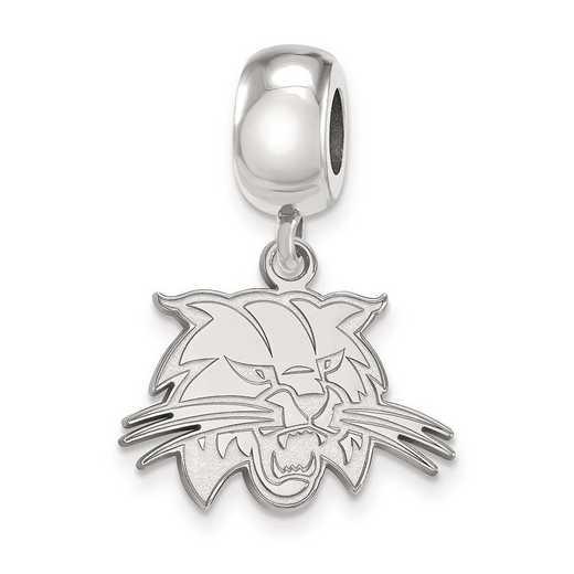 SS025OU: SS Rh-Plated Logoart Ohio Univ Small Dangle Reflection Beads