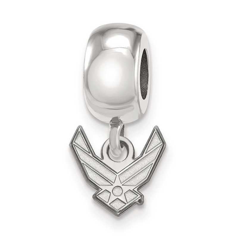 SS027USAF: SS Rh-P Logo Art U.S. Air Force Reflection Beads Charm Xs