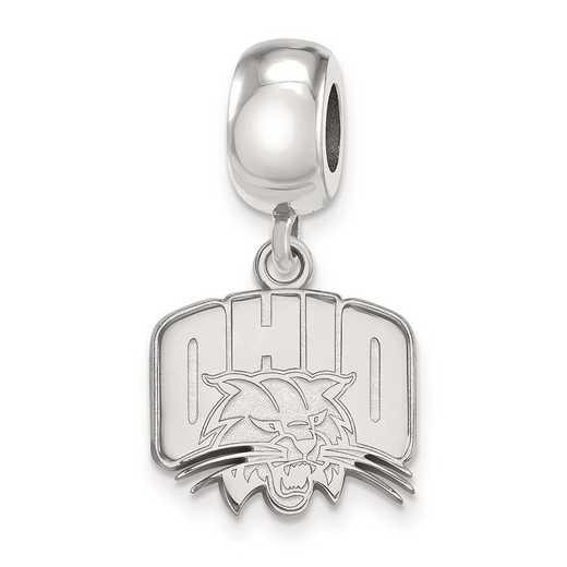 SS028OU: SS Rh-P Logoart Ohio Univ Small Reflection Beads Charm