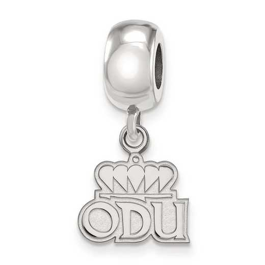 SS030ODU: SS Rh-Plat Logo Art Old Dominion U Xs Reflection Beads Charm
