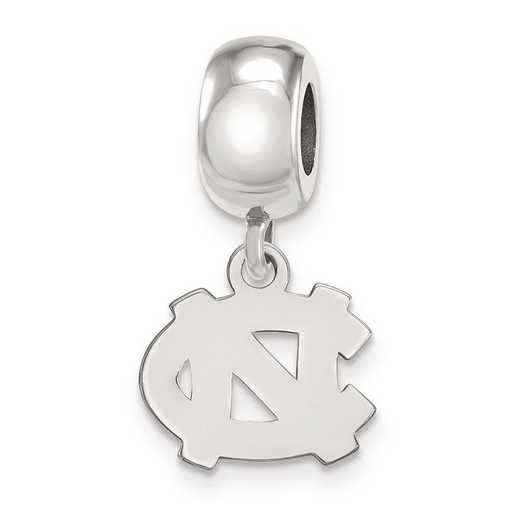 SS030UNC: SS Rh-P Logoart U Of North Carolina Reflection Beads Charm