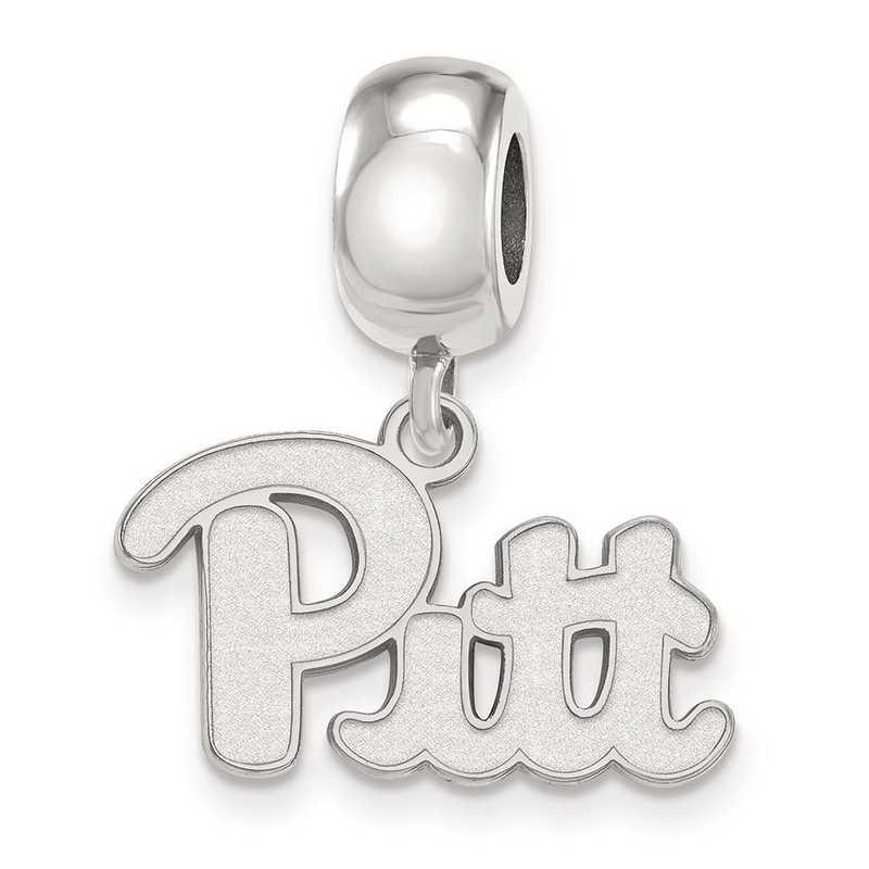 SS030UPI: SS Rh-P Logoart Univ Of Pittsburgh Small Reflection Beads