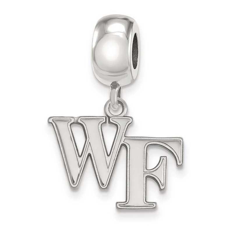 SS030WFU: SS Rh-P Logoart Wake Forest Univ Small Reflection Beads