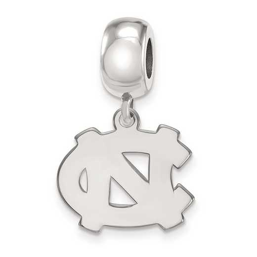 SS031UNC: SS Rh-P Logoart U Of North Carolina Small Reflection Beads