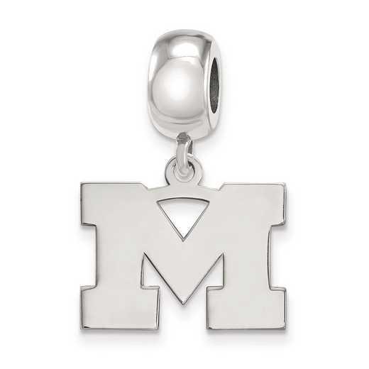 SS033UM: SS Rh-P Logoart Univ Of Michigan Small Reflection Beads