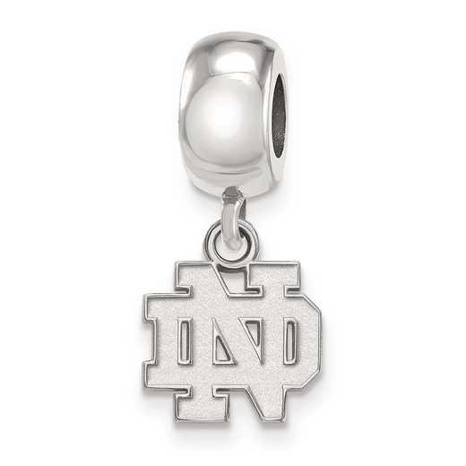 SS033UND: SS Rh-Plat Logoart Univ Of Notre Dame Charm Reflection Beads