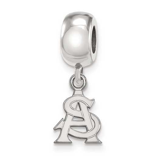 SS034AZS: SS Rh Logoart Arizona State Univ Xs Reflection Beads Charm