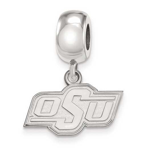 SS034OKS: SS Rh-P Logoart Oklahoma State U Xs Reflection Beads Charm