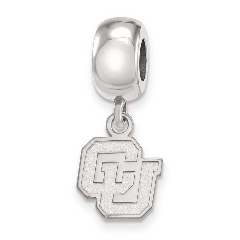 SS034UCO: SS Rh-P Logoart Univ Of Colorado Xs Reflection Beads Charm