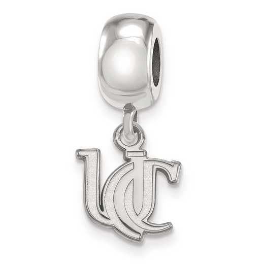 SS034UC: SS Rh-P Univ Of Cincinnati Xs Dangle Charm Reflection Beads