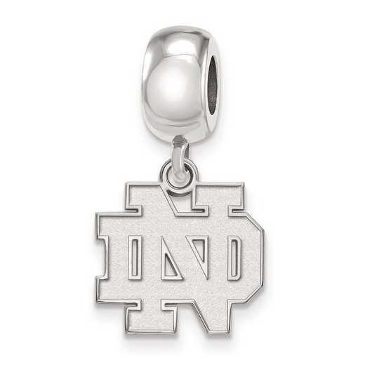 SS034UND: SS Logoart U Of Notre Dame Sml Charm Reflection Beads