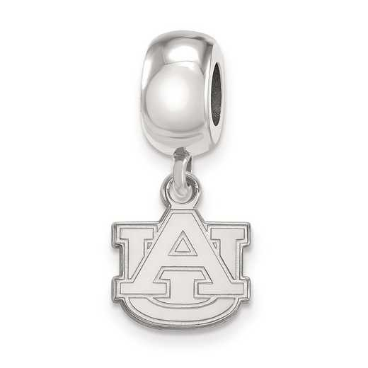 SS035AU: SS Rh-P Logoart Auburn Univ Xs Dangle Reflection Beads Charm