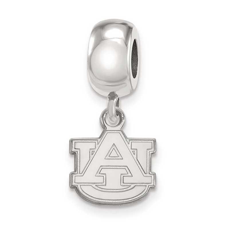 SS035AU: SS Rh-P Logoart Auburn Univ Xs Dangle Reflection Beads Charm