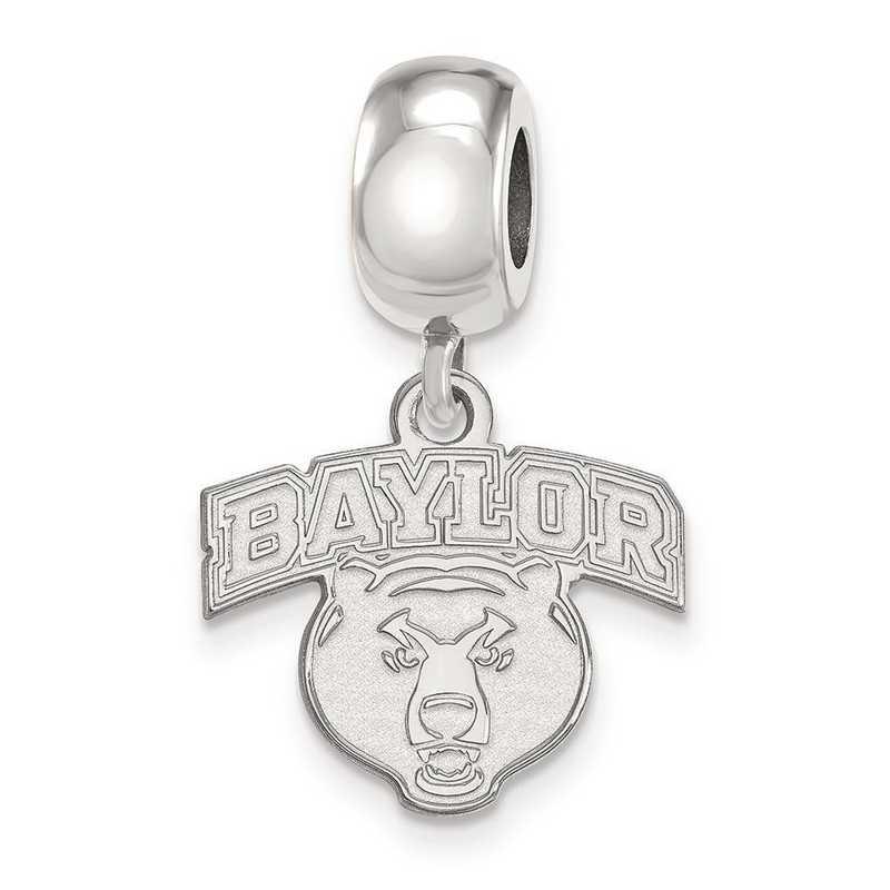 SS035BU: SS Rh-P Logoart Baylor Univ Small Dangle Reflection Beads